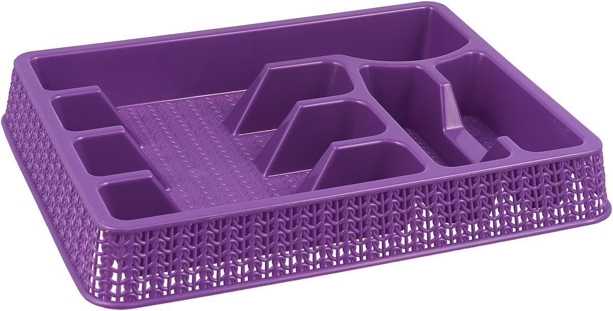Лоток для столовых предметов StarPlast, цвет: фиолетовый, 37 x 28 см лоток для крепежа fit 35 x 21 x 16 см