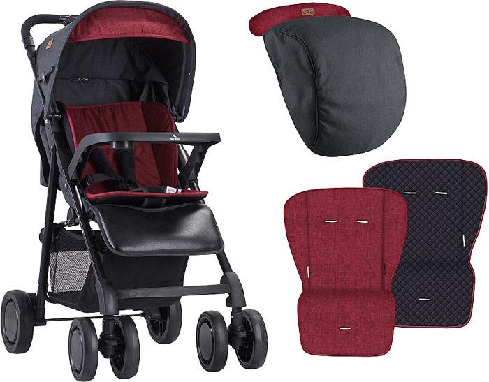 Lorelli Прогулочная коляска Aero цвет черный красный