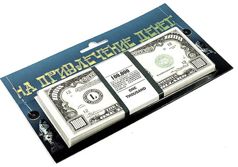 Денежный сувенир Эврика Забаваная пачка. На привлечение денег. 1000 долларов