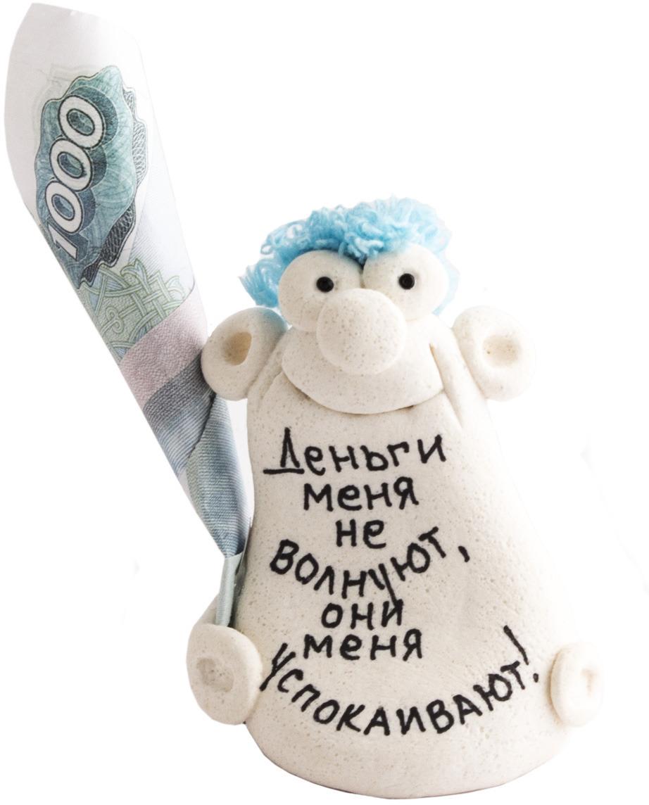 """Фигурка-талисман декоративная Эврика """"Меня деньги не волнуют, они меня успокаивают"""""""