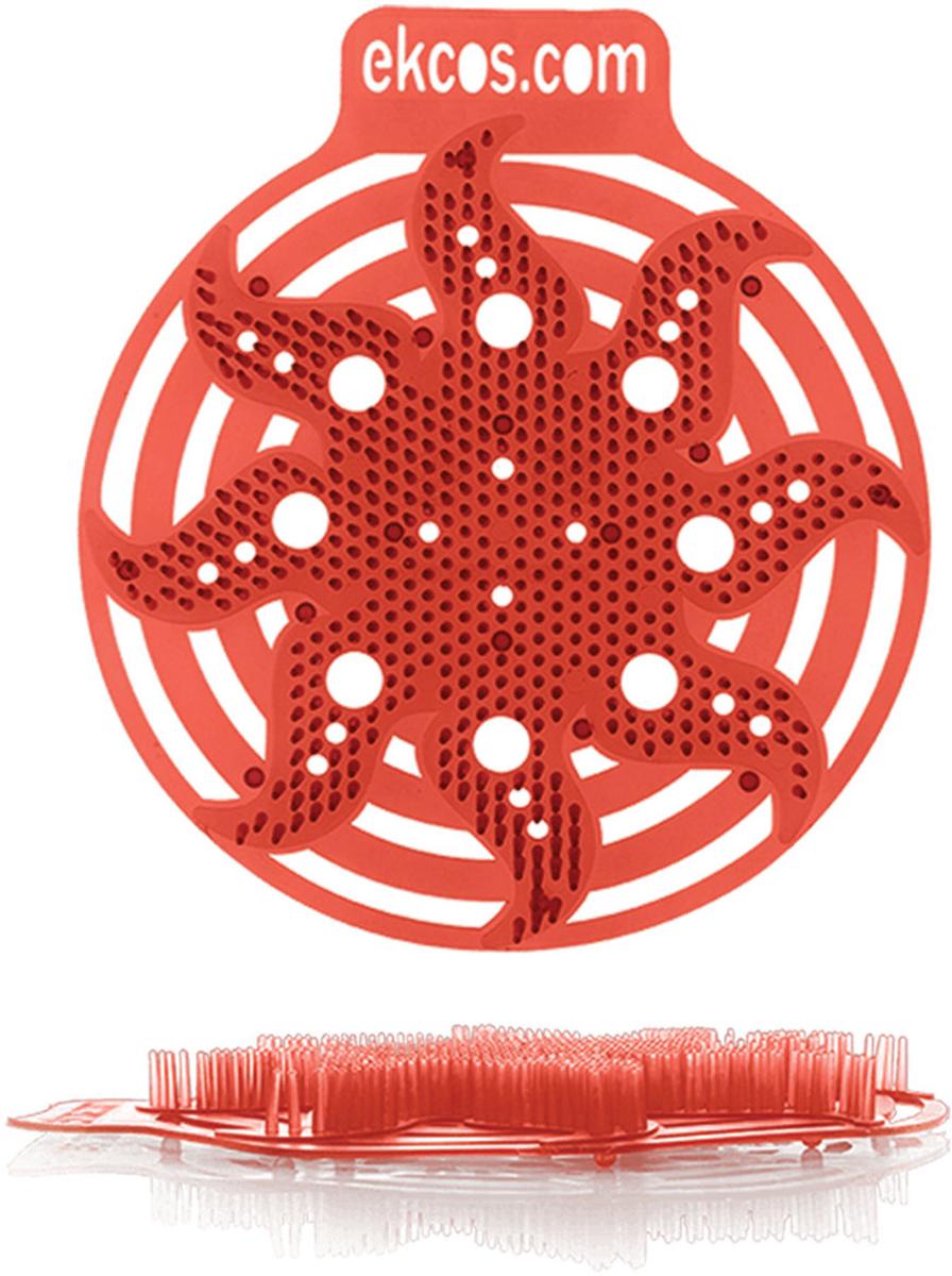 """Коврики-вставки для писсуара Ekcos """"Дыня"""", цвет: красный, 2 шт. 604664"""