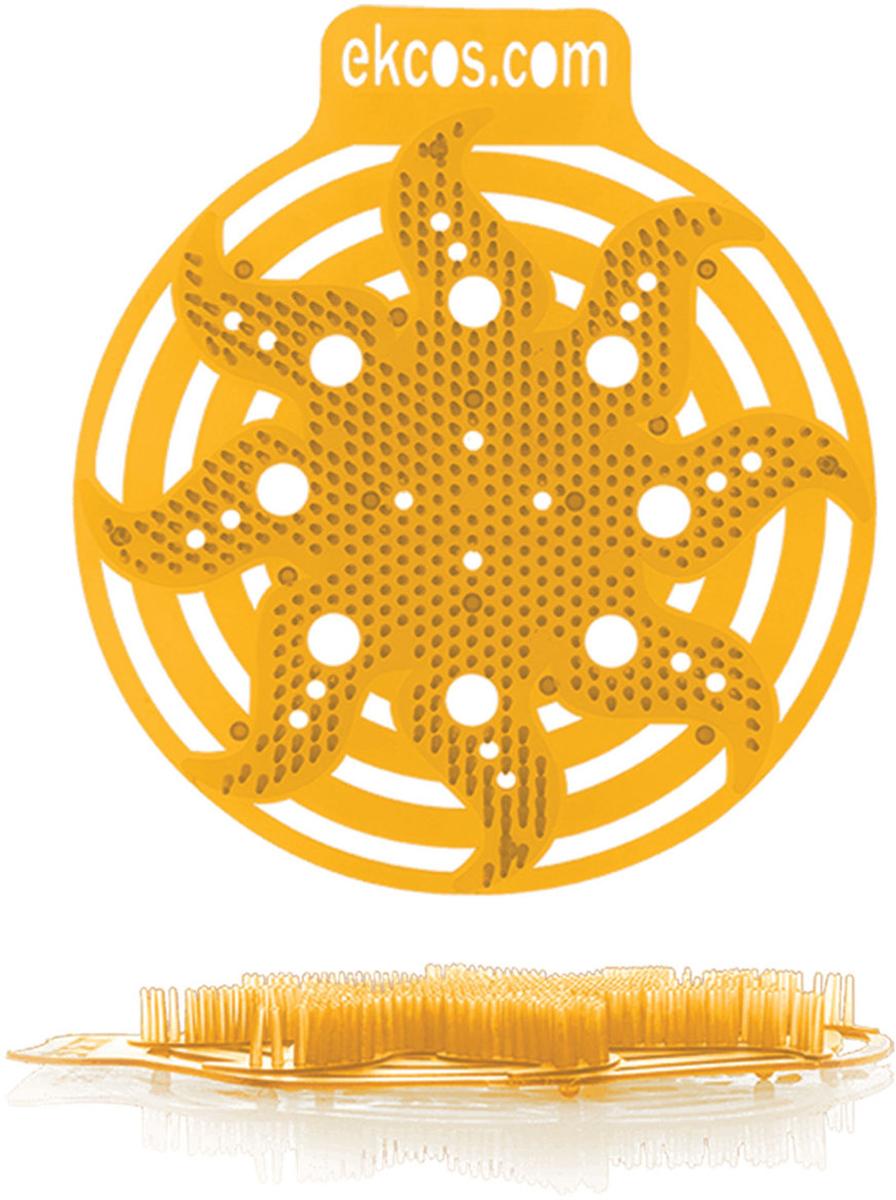 Коврики-вставки для писсуара Ekcos Апельсин, цвет: оранжевый, 2 шт. 604665PWR-4OКоврик Ekcos предназначен для предотвращения разбрызгивания и сохранения области писсуара в чистоте. Он значительно сэкономит затраты и время на уборку. Антибактериальное вещество защищает от бактерий и нейтрализует неприятные запахи.