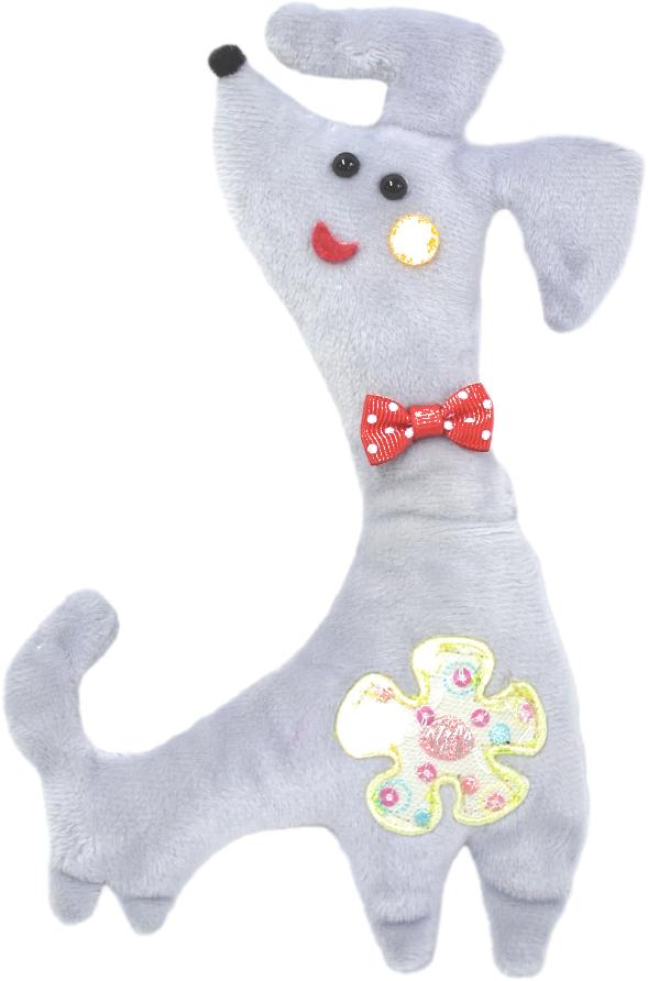 Игрушка для собак GLG Собака-забияка, цвет в ассортименте, длина 21 см игрушка для собак fat cat кот забияка цвет синий розовый