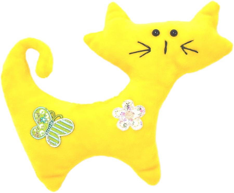 Игрушка для собак GLG Кот забияка, цвет в ассортименте, длина 18,5 см игрушка для собак fat cat кот забияка цвет синий розовый