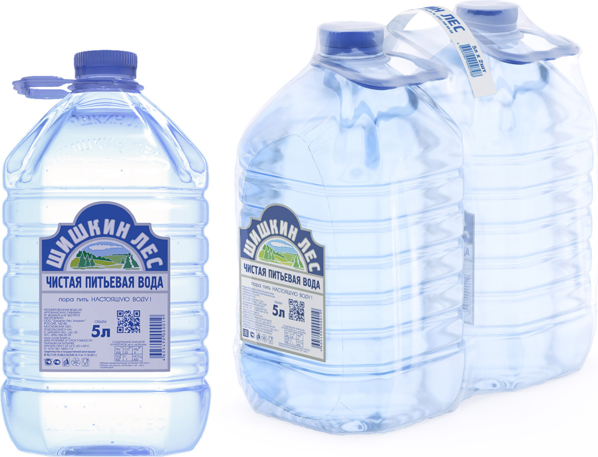Вода питьевая Шишкин лес, 2 шт по 5 л