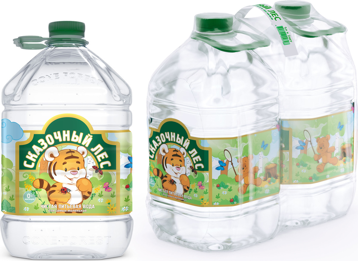 Вода Сказочный лес питьевая детская, 2 шт по 5 л вода сказочный лес питьевая детская 12 шт по 0 4 л