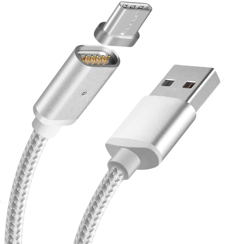 цена на Pro Legend PL1155, White магнитный кабель USB - Type C (1 м)