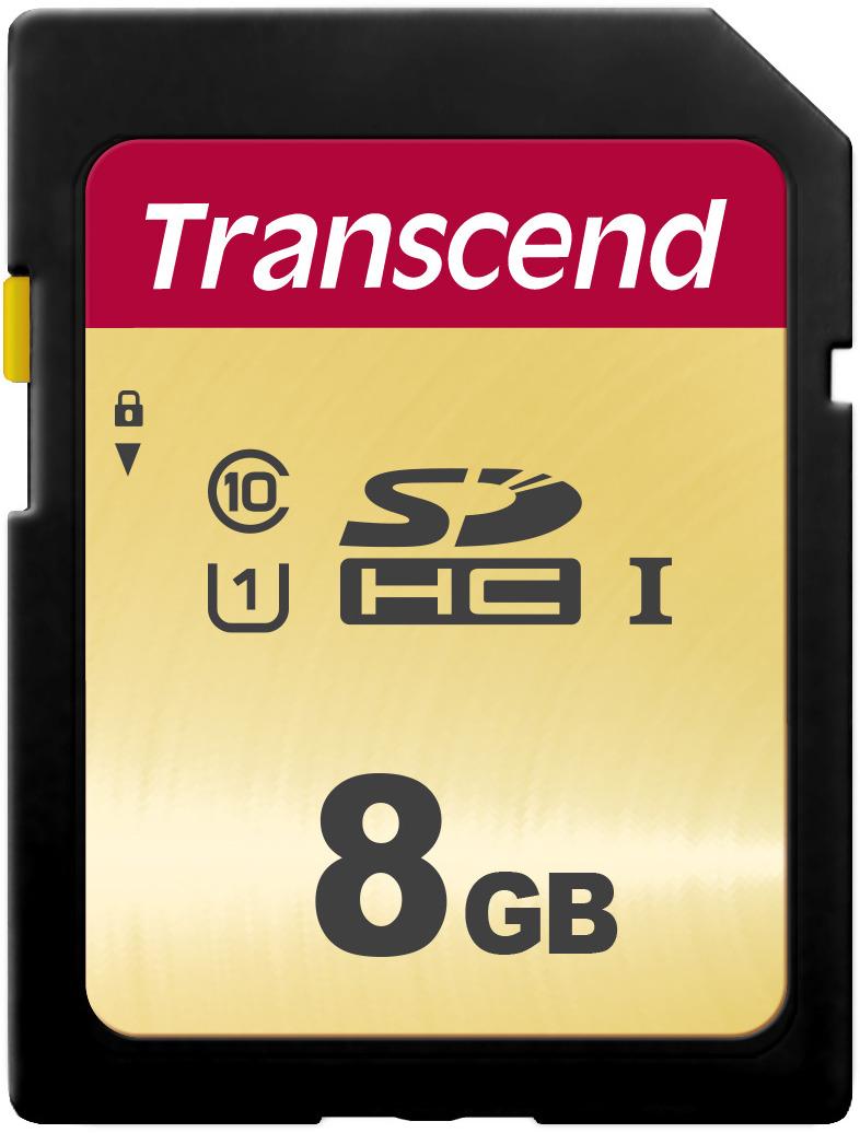 Transcend SDHC 500S UHS-I Class U1 8 GB карта памяти цена и фото