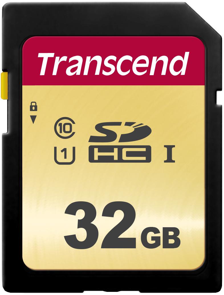 Transcend SDHC 500S UHS-I Class U1 32 GB карта памяти цена и фото