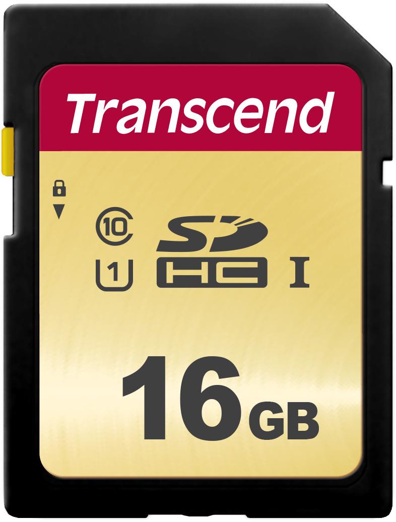 Transcend SDHC 500S UHS-I Class U1 16 GB карта памяти цена и фото