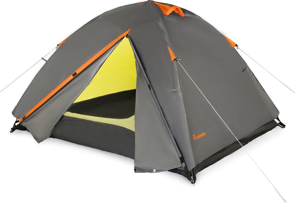 Палатка Larsen A2 Quest, 2-местная, цвет: серый, оранжевый