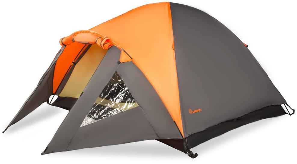 Палатка Larsen A4 Quest, 4-местная, цвет: оранжевый, серый