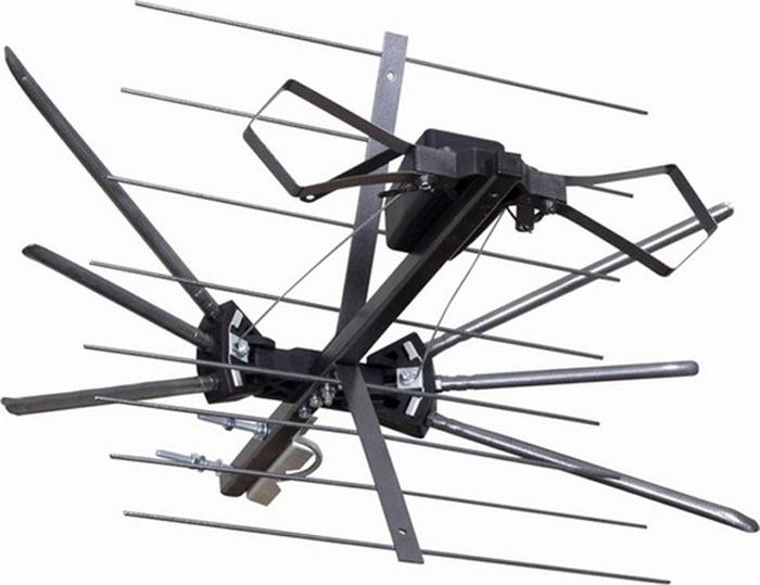 антенна rexant dvb t2 rx 411 1 34 0411 1 Rexant RX-401, Black наружная антенна для аналогового и цифрового ТВ DVB-T2 (активная)