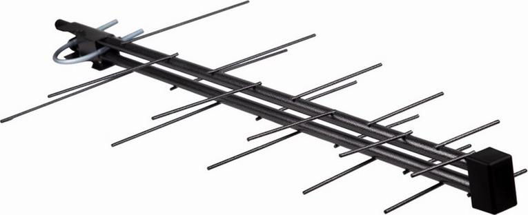 Rexant RX-424, Black наружная антенна для аналогового и цифрового ТВ DVB-T2 (активная) антенна rexant dvb t2 rx 261 34 0261