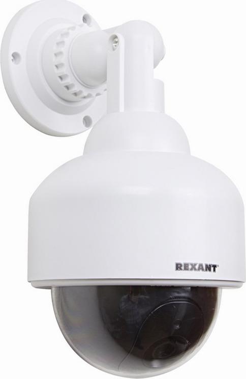 Муляж камеры наблюдения Rexant 45-0200, White муляж камеры видеонаблюдения orient ab dm 25w купольная led мигает для наружного наблюдения