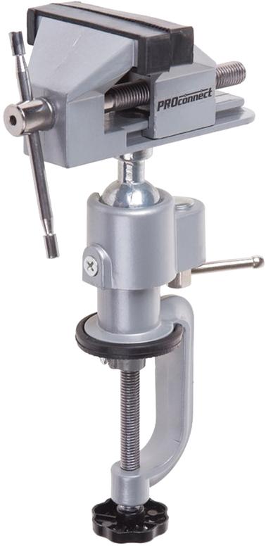 Тиски слесарные PROconnect, поворотные, 60 мм, 360 градусов цена