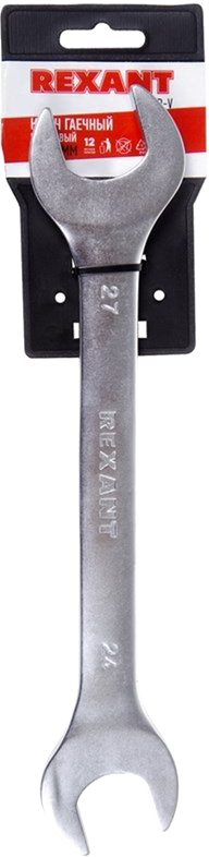Ключ гаечный рожковый Rexant, 24 х 27 мм ключ гаечный рожковый airline 12 х 14 мм