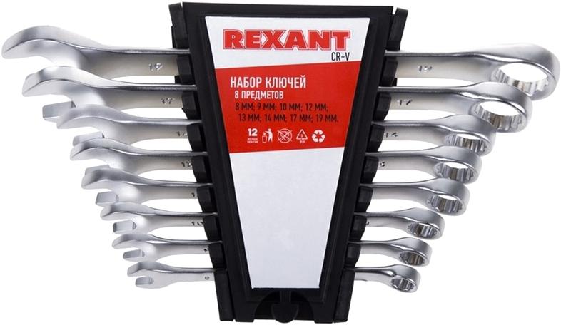 """Набор ключей комбинированных """"Rexant"""", 8-19 мм, 8 предметов"""