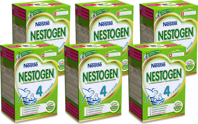 Смесь Nestogen 4 детское молочко для детей с 18 месяцев, 6 шт по 700 г