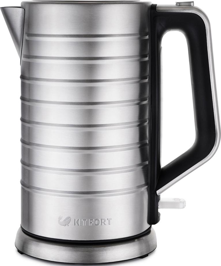 Электрический чайник Kitfort КТ-627, Grey Metallic