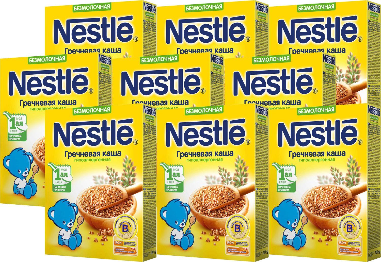 Каша Nestle безмолочная гречневая гипоаллергенная Моя 1-ая каша. Начинаем прикорм, 9 шт по 200 г