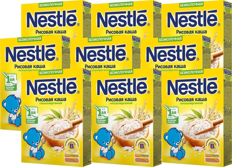 Каша Nestle безмолочная рисовая гипоаллергенная Моя 1-ая каша. Начинаем прикорм, 9 шт по 200 г