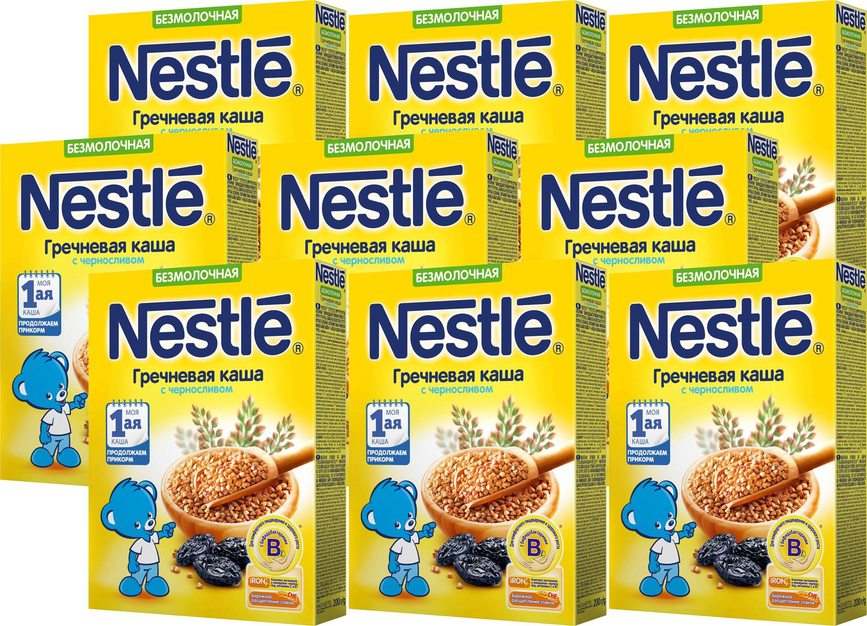 Каша Nestle безмолочная гречневая с черносливом Моя 1-ая каша. Продолжаем прикорм, 9 шт по 200 г