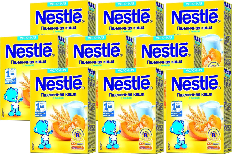 Каша Nestle молочная пшеничная с тыквой Моя 1-ая каша. Продолжаем прикорм, 9 шт по 220 г