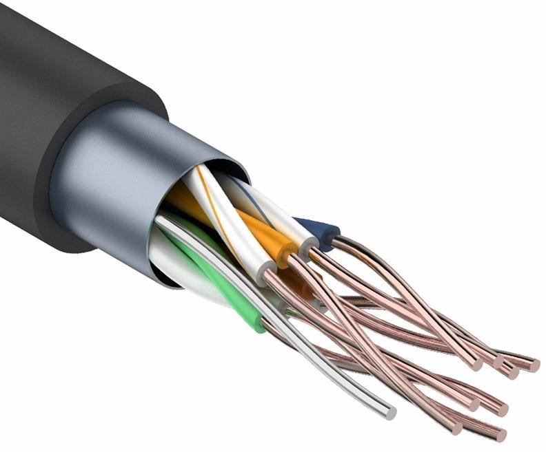 Фото - Кабель PROconnect FTP 4PR 24AWG CAT5e Outdoor, 305 м, серый кабель utp 4pr 24awg cat5e outdoor 1 пог м