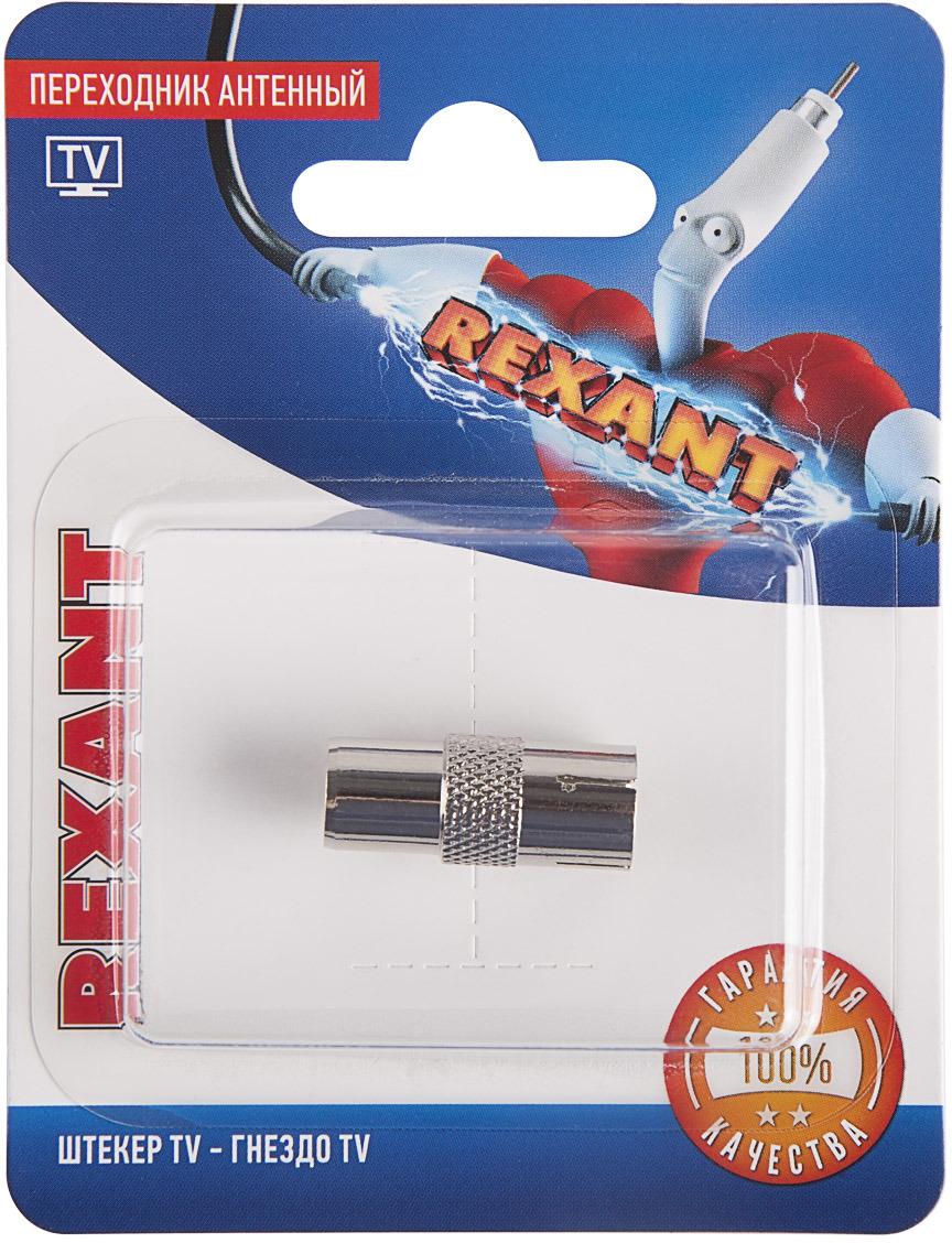 Rexant 06-0030-A переходник антенный TV разъём штекер tv без пайки белый proconnect индивидуальная упаковка 1 шт