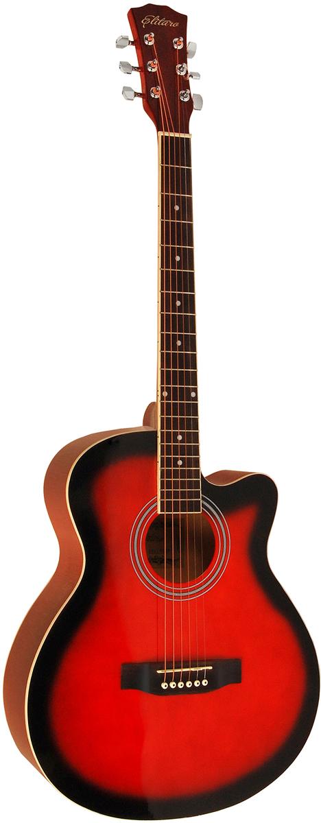 Elitaro E4010C, Red акустическая гитара цена