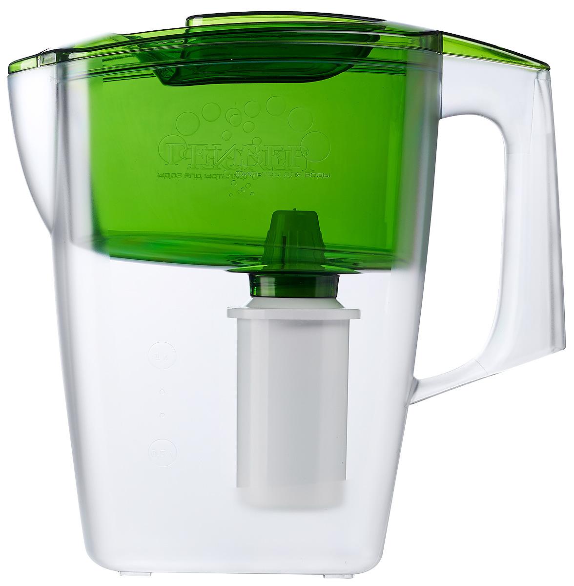 Фото - Фильтр-кувшин Гейзер Альфа, цвет: зеленый, 2,5 л кувшин гейзер аквилон зеленый 3л 62042