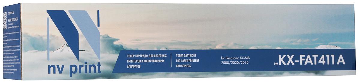 Тонер-картридж NV Print KX-FAT411А, черный, для лазерного принтера, совместимый