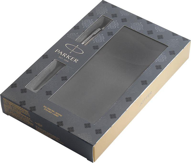 Parker Набор Ручка шариковая + Записная книжка Jotter Bond Street Black CT недорго, оригинальная цена