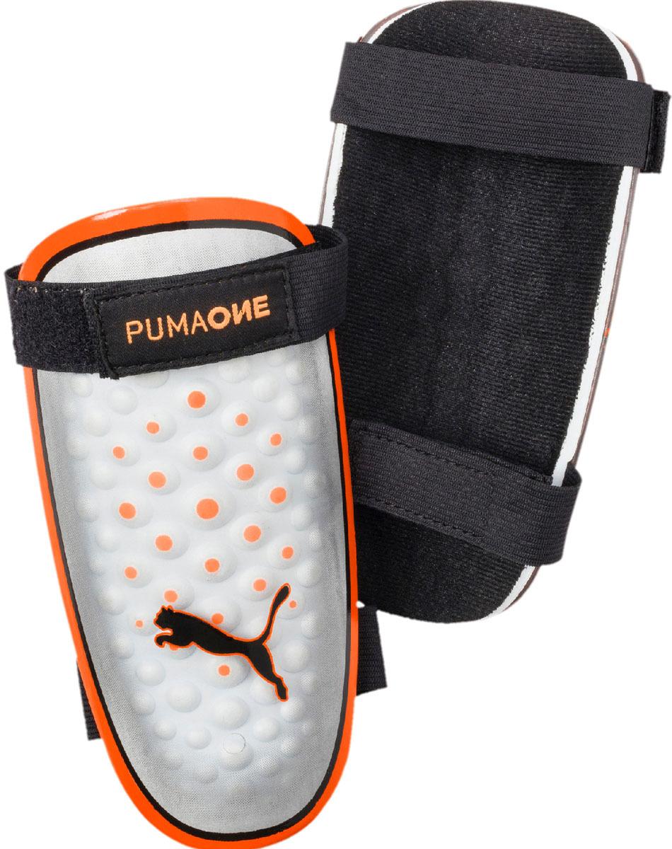 Щитки Puma One 5, цвет: белый, оранжевый. Размер L цена