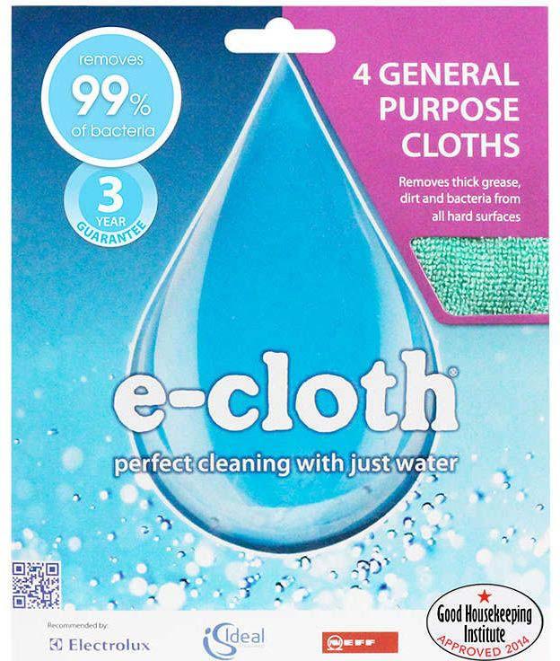 Набор салфеток E-cloth, универсальных, 32 х 32 см, 4 шт салфетка clean cloth уборки кухни пыли посуды желтый зеленый розовый