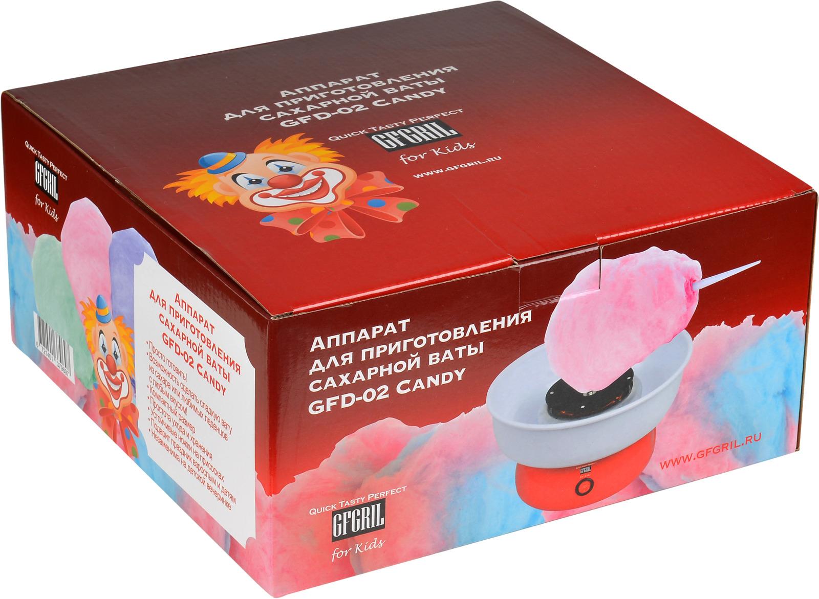 GFgril GFD-02 Candy, Redаппарат для приготовления сахарной ваты GFgril