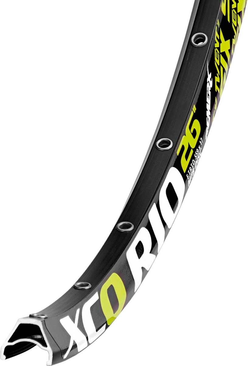 Обод Remerx Xco Rio Rdx 7325 26 (559x17), 32 спицы, двойной, пистонированный, черный