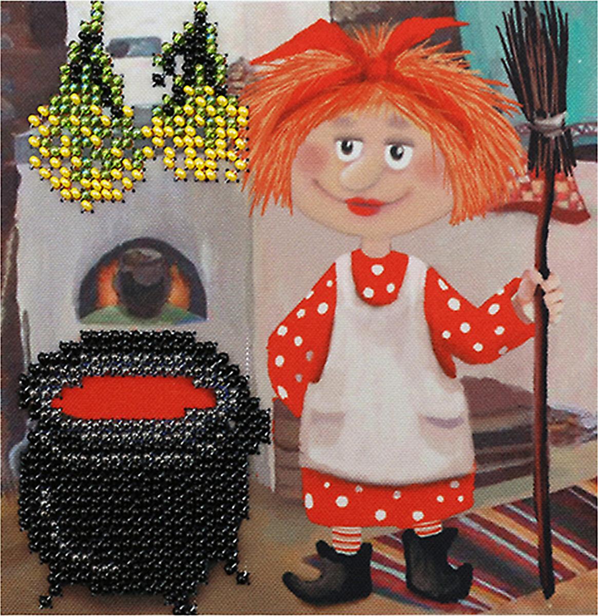 Набор для вышивания бисером Бисеринка Бабаежка, 12 х 12 см набор для вышивания бисером бисеринка под зонтиком 12 х 12 см