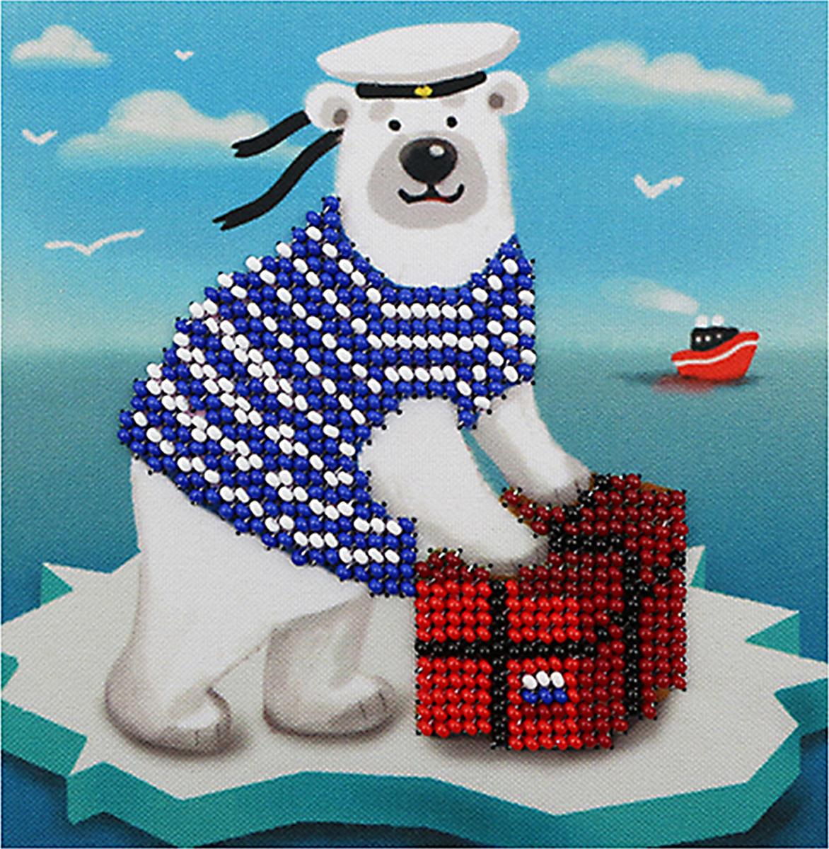 Набор для вышивания бисером Бисеринка Почтальон, 12 х 12 см набор для вышивания бисером бисеринка под зонтиком 12 х 12 см