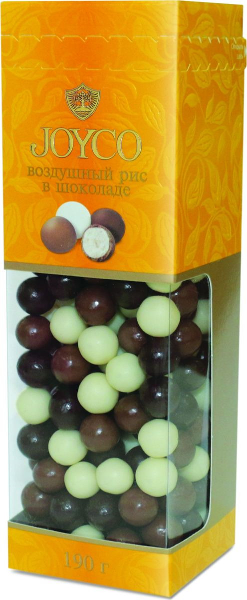все цены на JOYCO Драже с взорванным (воздушным) рисом в шоколаде, 190 г онлайн