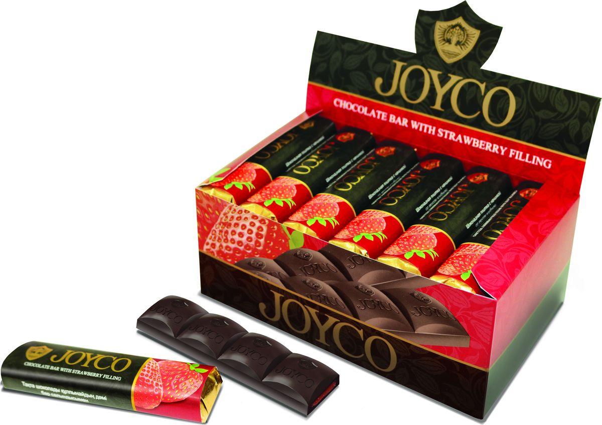 JOYCO Шоколадная плитка с начинкой со вкусом клубники, 50 г кремлина мамапапа флами микс подушечки 5 злаков с помадной начинкой в клубничной и йогуртовой глазури 140 г