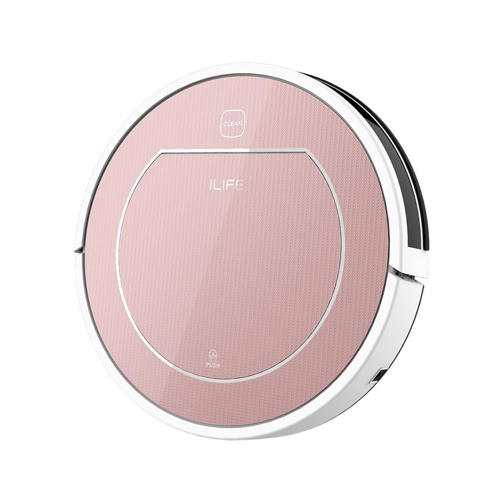 Робот-пылесос iLife V7s Plus, 00039281, розовый