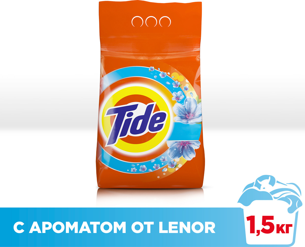 Стиральный порошок Tide Lenor Touch of Scent, автомат, 1,5 кг порошок стир tide lenor лаванда автомат 4 5кг
