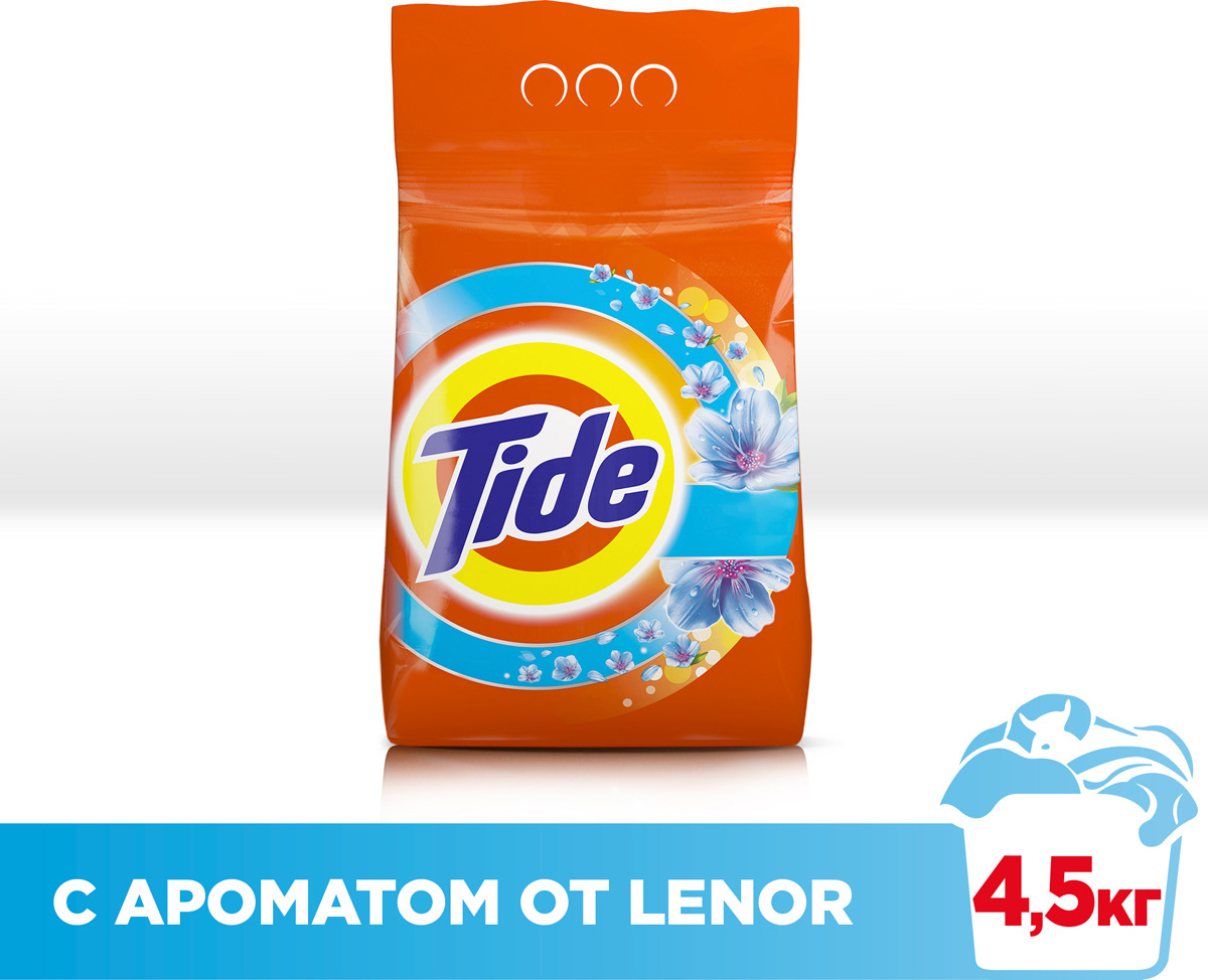Стиральный порошок Tide Lenor Touch of Scent, автомат, 4,5 кг порошок стир tide lenor лаванда автомат 4 5кг