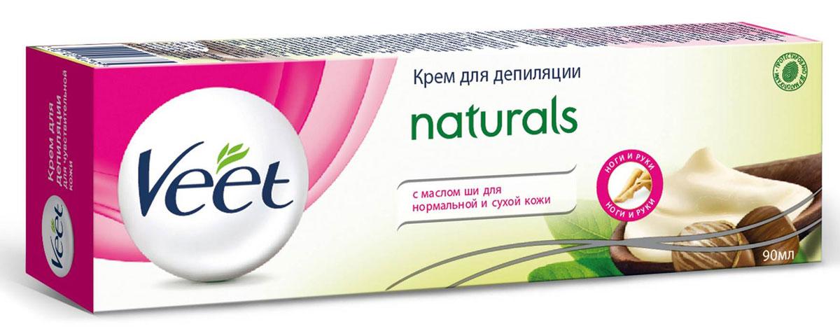 Veet Крем для депиляции Naturals, с маслом ши, для нормальной и сухой кожи, 90 мл veet крем для депиляции naturals с маслом ши для нормальной и сухой кожи 90 мл