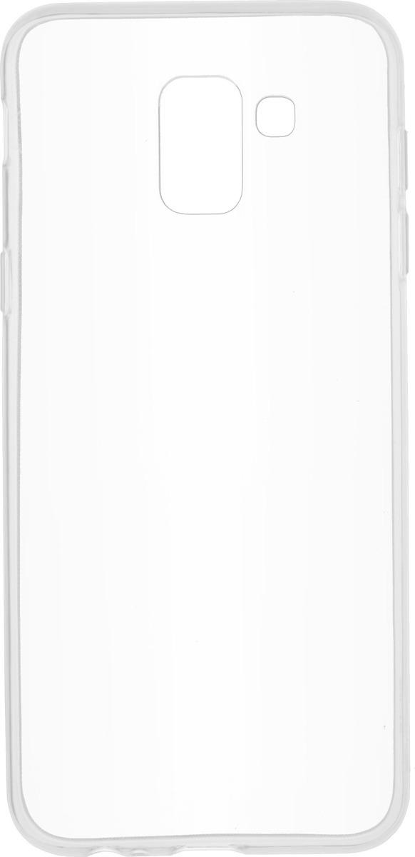 Чехол Skinbox Slim Silicone для Samsung Galaxy J6 (2018), Transparent skinbox накладка skinbox slim silicone для samsung galaxy note 7