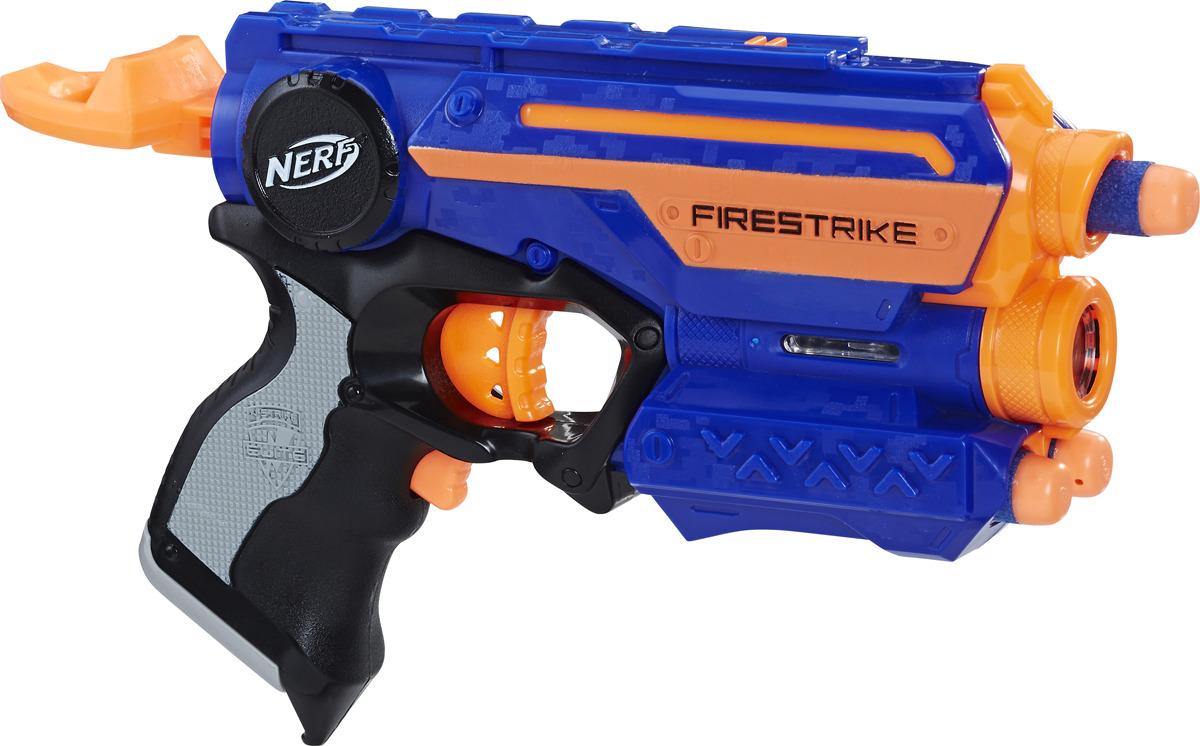 Бластер Nerf Firestrike, с патронами, цвет: синий, оранжевый, черный водный бластер nerf super soaker альфа цвет синий оранжевый