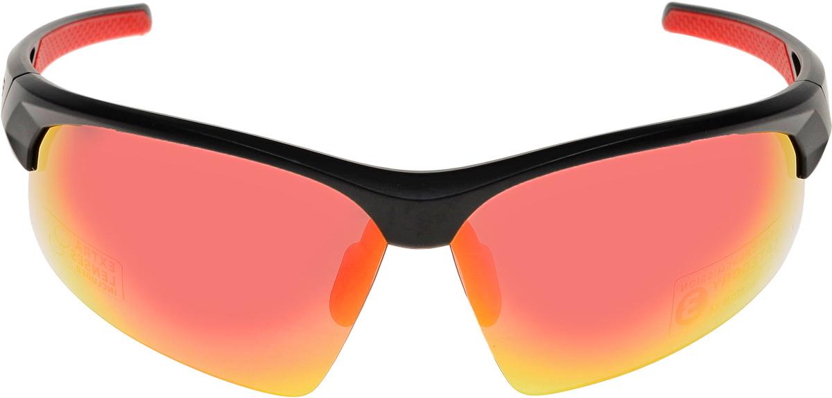 Очки солнцезащитные велосипедные BBB 2018 Impress PC Smoke Red Lenses, цвет: черный матовый