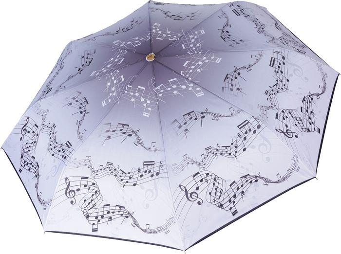 Зонт женский Fabretti, автомат, 3 сложения, цвет: серый. L-18120-6 зонт trust 32473 1603 женский полный автомат